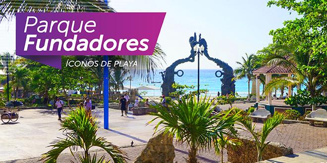 Parque fundador Playa del Carmen